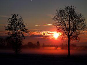 Sonnenaufgang über Altheim
