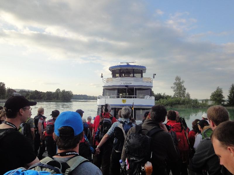 Einstieg  in die MS Allgäu