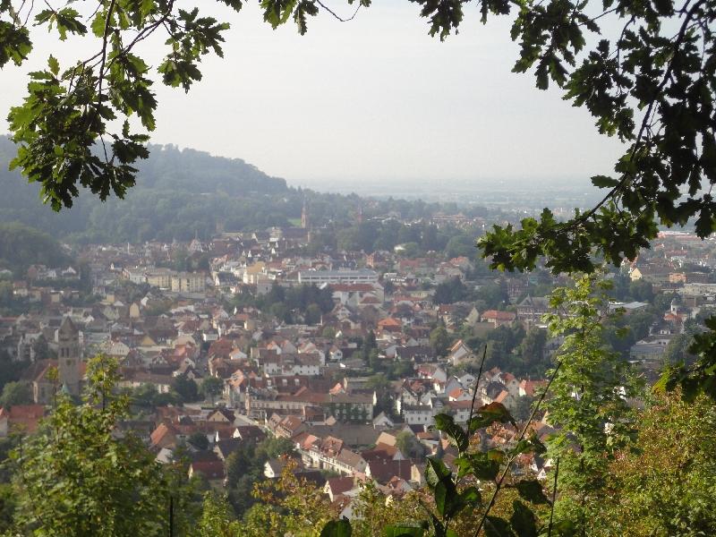 Blick auf Weinheim