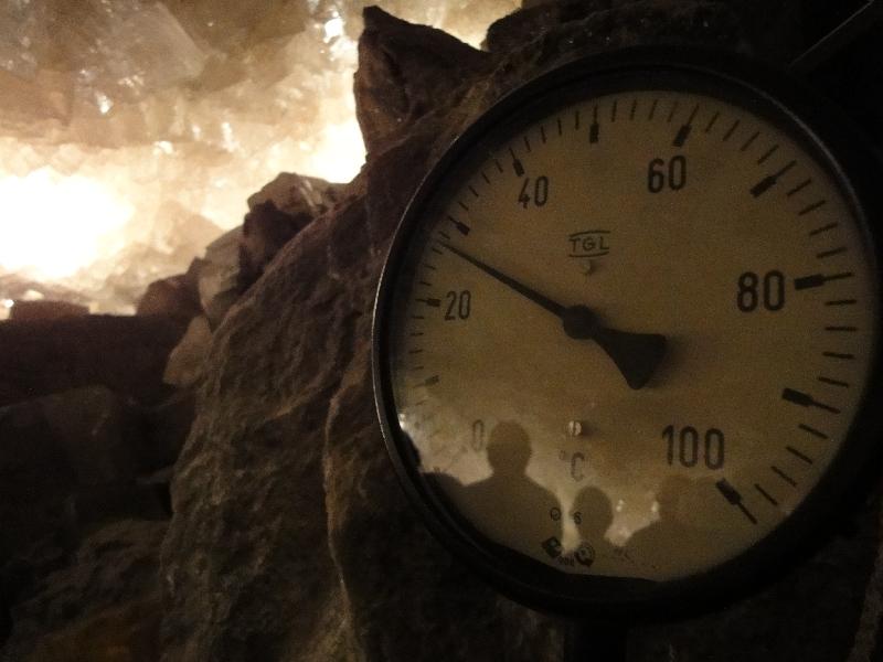 Angenehme Temperaturen in 800 Meter Tiefe