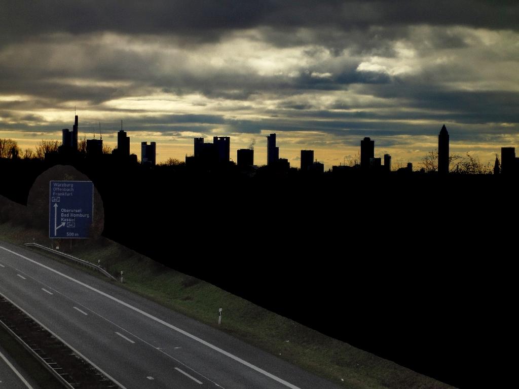 Skyline im Gegenlicht