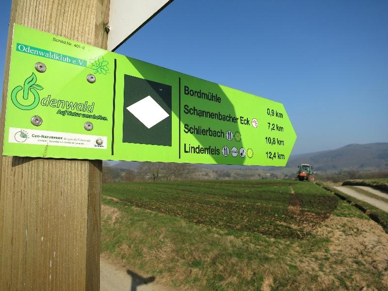 Top Markierung im Odenwald