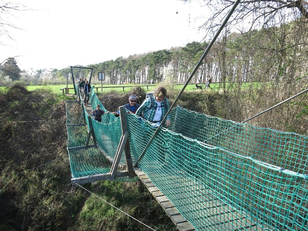 Streßtest an der Hängebrücke