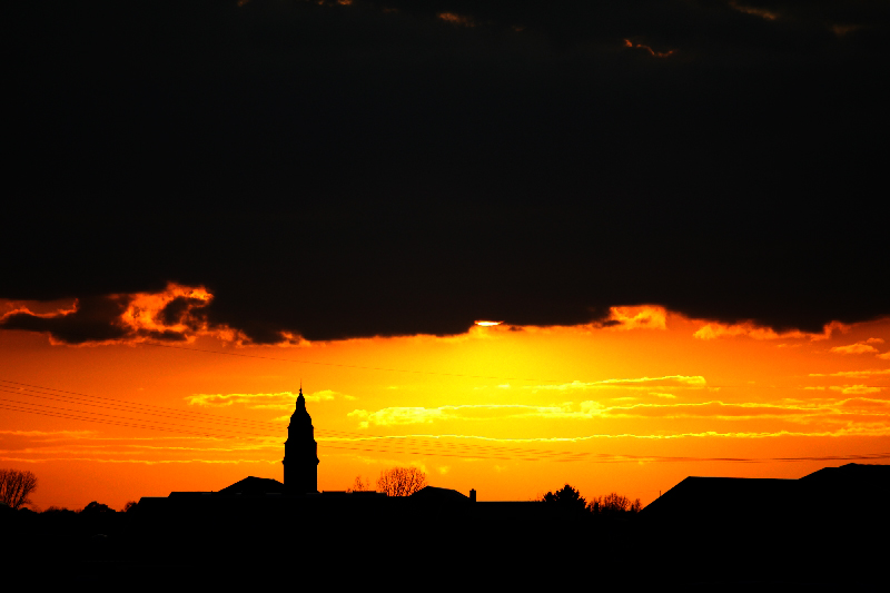 Münsterer Kirchen im Abendlicht