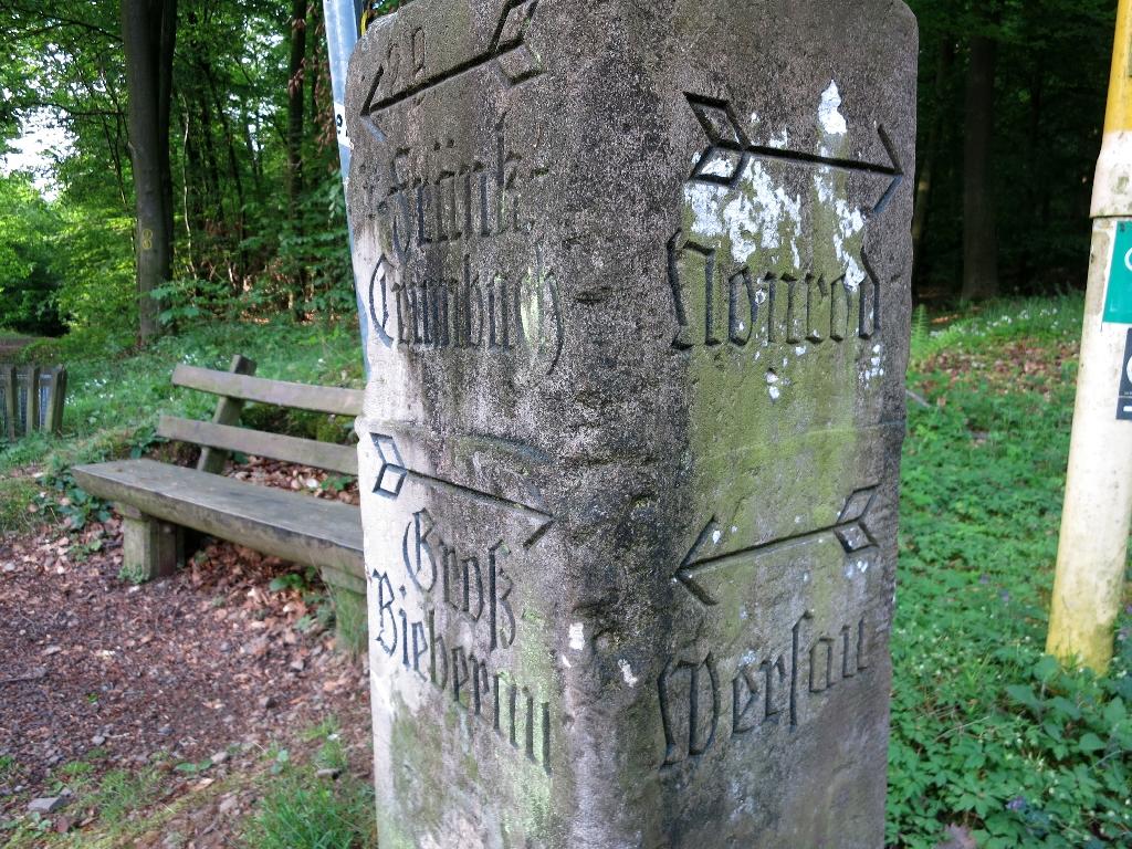 Historische Wegweiser Nonroder Höhe