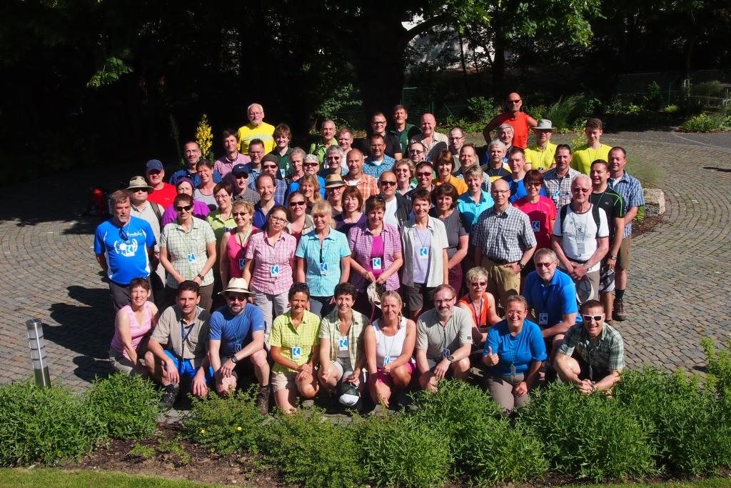 Kurz vor dem Start: 24 Stunden Teilnehmer Rheinsteig 2014
