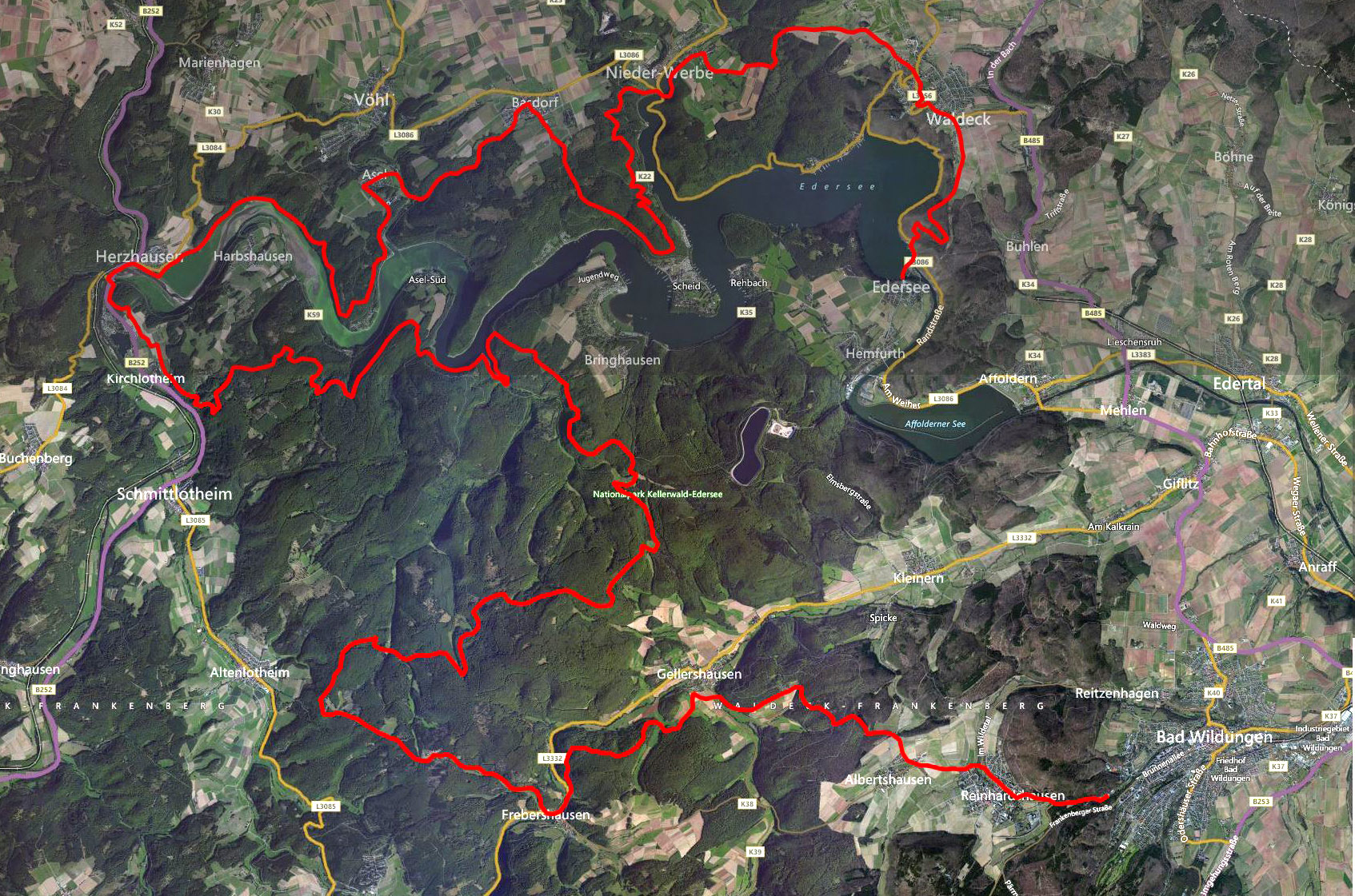Edersee 2014 Map