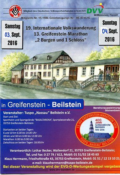 IVV Marathon Greifenstein-Beilstein