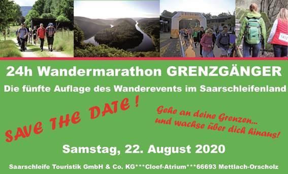 """Grenzgänger 2020 – DAS 24-h-Wanderevent"""" - im Saarschleifenland"""